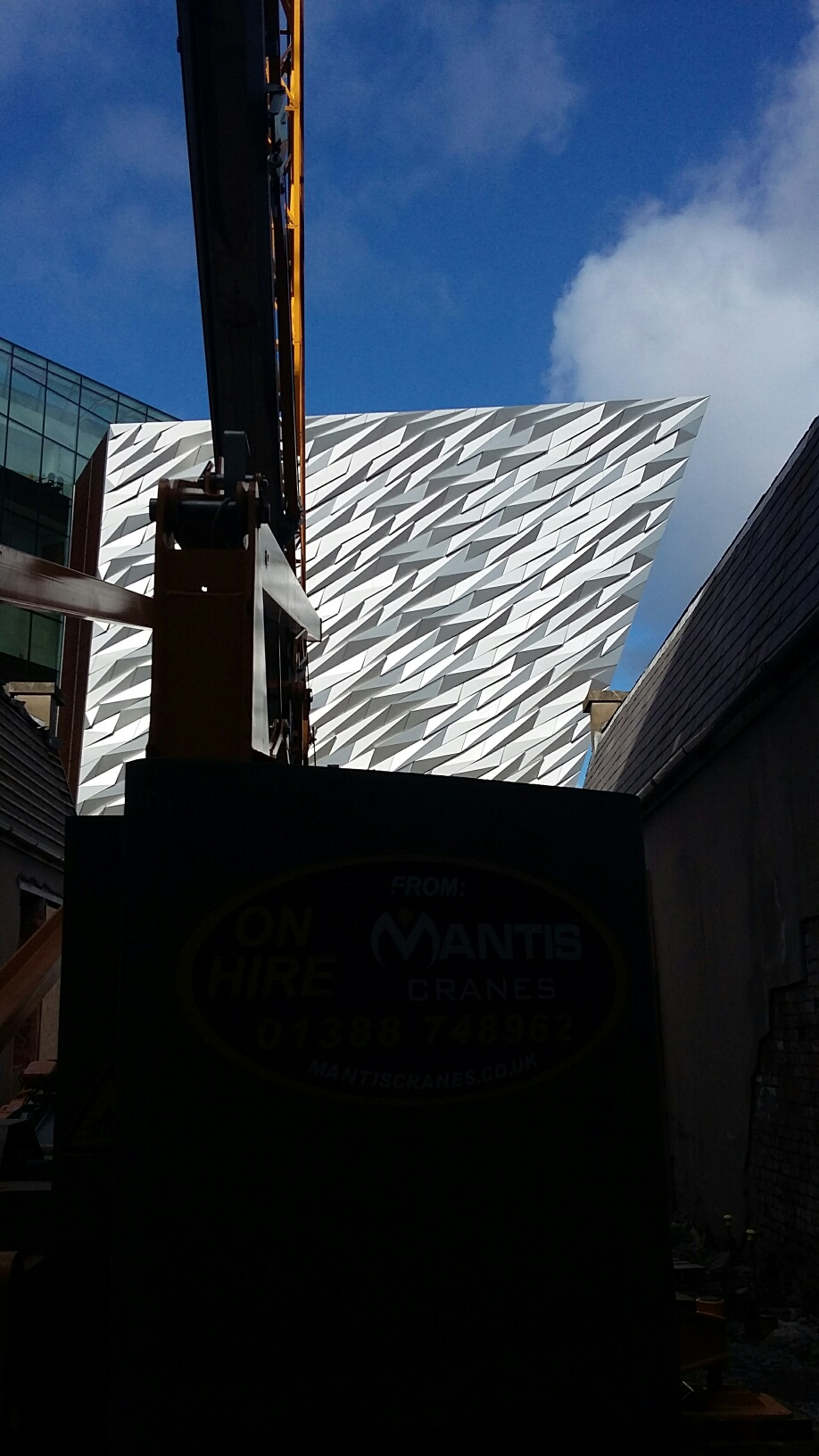 Potain IGO50 at the Titanic site in Belfast