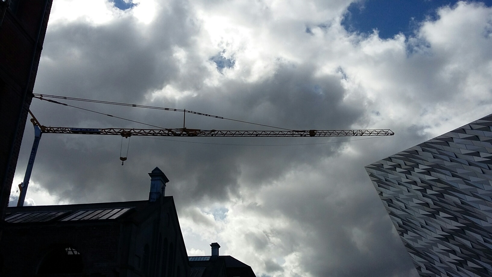 Self Erecting Tower Crane at The Titanic Hotel, Belfast