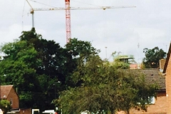 Two Pedestrian Operated Towers Cranes from the Mantis Fleet.