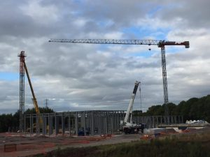 Erection of the Saez 55TL after Day 1 - Preston