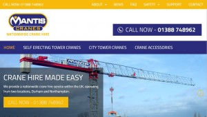Mantis Cranes Website Relaunch