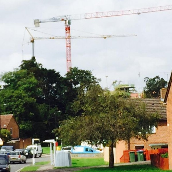 SAEZ TLS65 City Tower Cranes on Residential Site in Southampton