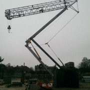 Pedestrian Operated Tower Crane on a Nursing Home site in Newton Aycliffe