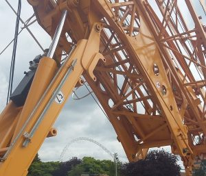 Pedestrian Operated Towers Cranes on Wembley Project