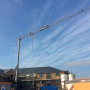 Self Erecting Tower Crane on a Care Home Project