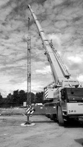 Saez TL55 Tower Crane in Warrington.