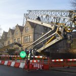 Self Erecting Crane at Oxford College