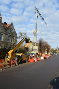 Pedestrian Operated Crane in Oxford