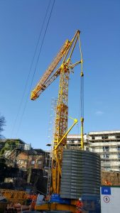 Potain T85 Self Erecting Tower Crane in Wales