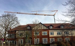 Potain IGO50 Self Erecting Tower Crane in Bournemouth