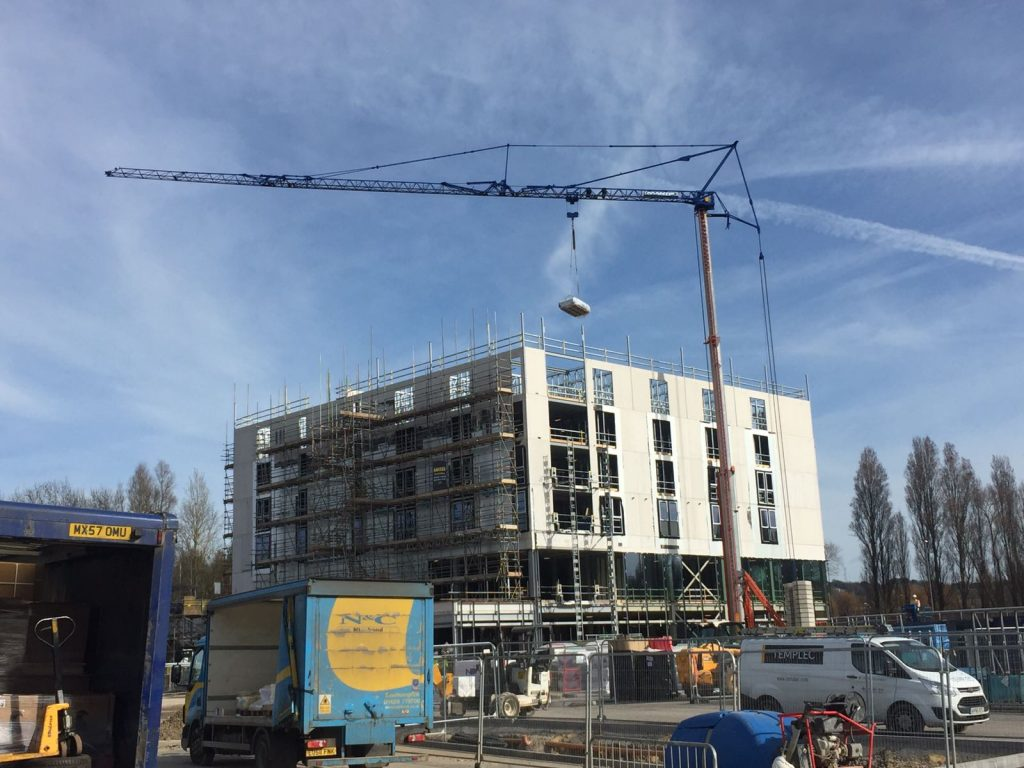 Self Erecting Tower Crane at the Village Urban Hotel, Portsmouth
