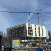 Self Erecting Tower Crane at the Village Urban Hotel