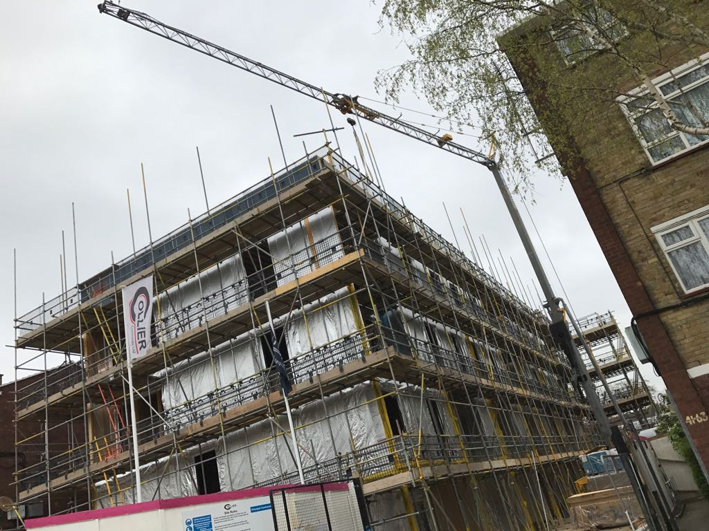 Self Erecting Tower Crane Hire Project in Lewisham