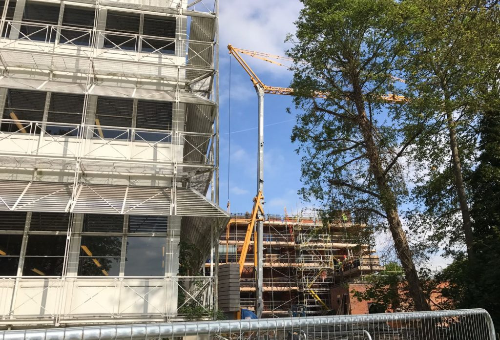 Tower Crane Hire at Eton College Windsor