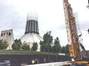Self Erecting Crane near Liverpool Metropolitan Cathedral