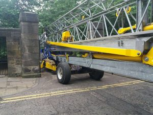 Putting a Self Erecting Tower Crane on site