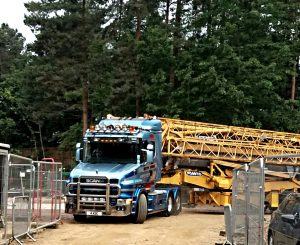 Potain HDT80 arrives on site at Elvden Forest