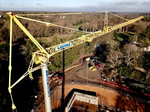 Self Erecting Tower Crane on Wentworth Estate