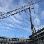 Two Self Erecting Cranes on an Accommodation Project in Gloucester