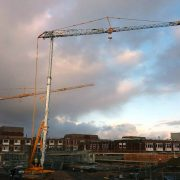 Two Self Erecting Tower Cranes in Grimsby