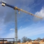 Tower Crane on a Care Home Project in Studley