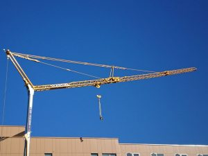 Self Erecting Tower Crane on a Sports Complex Project