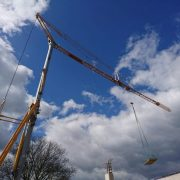 Self Erecting Tower Crane on a Sports Complex Project Image
