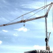 Self Erecting Tower Crane on a York Care Home Project