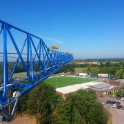 Tower Crane on a Care Home project in Preston