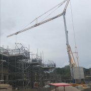 IGO-50 Self Erecting Tower Crane on a new housing development in Heanor