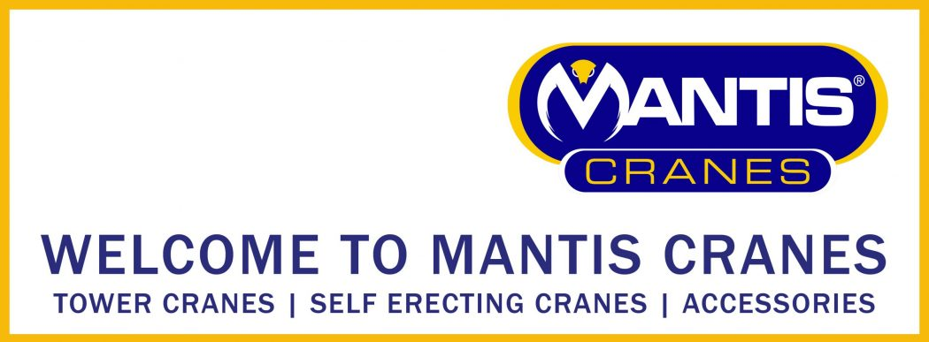 website banner welcome to mantis cranes uk